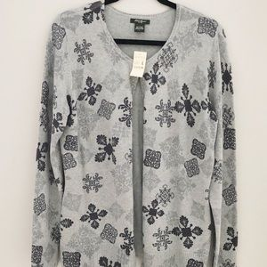 New W/ Tags Lands End Button Up Sweater Sz.Lg